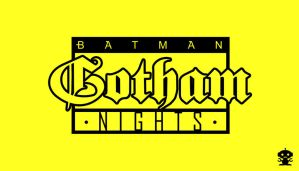 1992 Gotham Nights Comic Title Logo by HappyBirthdayRoboto
