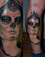 day of the dead girl by sass-tattoo