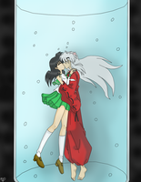Inuyasha and Kagome in the water by IcyRoads