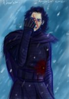 Kylo Ren Wounded (Sketch) by SephirothMichaelis