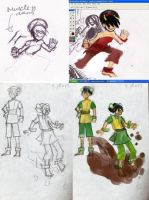 Unfinished Toph sketches by mymilkiaen