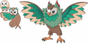 Rowlet Fake Evolutions by Patchman