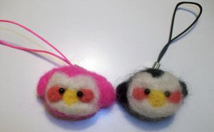 Felted Penguin Buddies by StCoraline