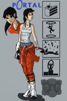 Chell Portal 2 by mangaturtle