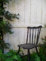 Black Chair White Fence by TheBlackRose321