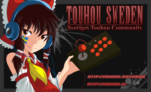 Business card design, Touhou Sweden by Nac0n
