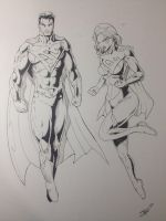 Superman and Supergirl by JAGZ-UNLIMITED