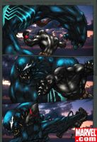 BlackPanther vs Venom by commanderlewis