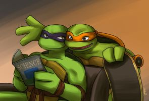 Donnie and Mikey (TMNT 2007) by athena-i