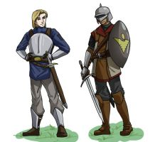 young swordsmen by Wazaga