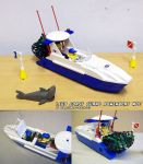 LEGO Classic Coast Guard Powerboat MOC by ninjatoespapercraft