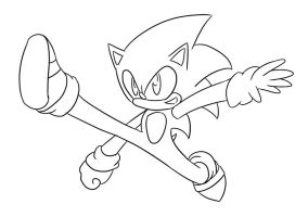 Fighters United: Sonic The Hedgehog :Lineart: by Xero-J