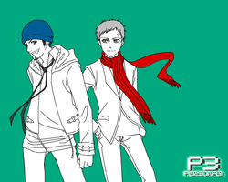 P3 wall - Sanada and Junpei by fettucine