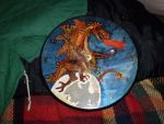 Dragon painted on a clock by gypsysnail
