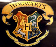 Potterhead mailbox (other side-closer) :) by WormholePaintings
