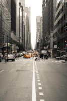 New York Yellow Cabs by Thoesoe
