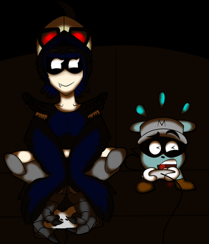 Nevermore and Mouseboy by LordRobrainiac