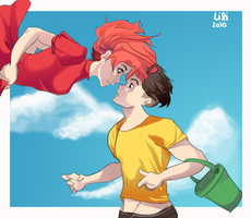 Older Ponyo and Sosuke by TT-RS
