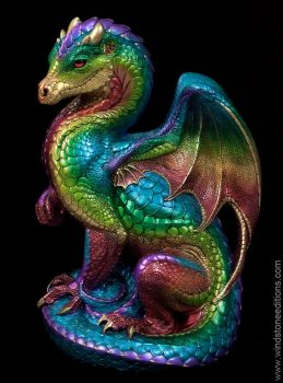 Secret Keeper Dragon in  Rainbow by Reptangle