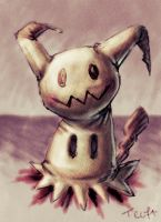 Sketch: Mimikyu by Teoft