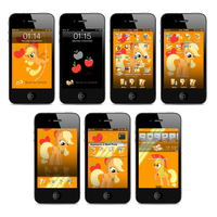 Applejack iPhone and iTouch Theme by FozzyWig