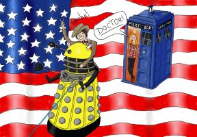 Doctor Who America Cartoon by Lid-the-squid
