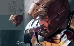 IRON MAN 3 - SPEED PAINTING by LuizLope5
