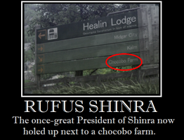 Rufus Shinra - Chocobo Farm by Lycan-wolf96