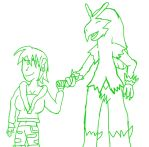 Oc and Blaziken WiP by Dracoknight545