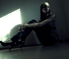 Sitting in the darkness by Crispey