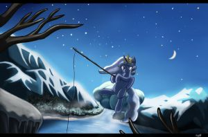 Her Royalty fishing by Sceathlet