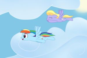 Rainbow Dash and Cloudkicker by AppleTarty