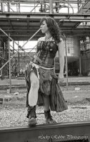 Steampunk Girl 03 by TheMiddleChild