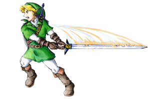 Link with Biggoron Sword by caringcarrot