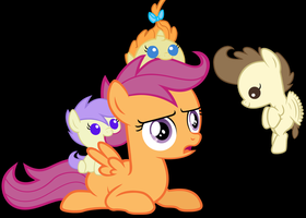 Scootaloo is a Foalsitter by 3D4D