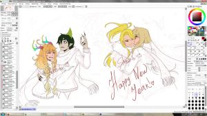 WIP:Happy New Year by Shiroi-hi