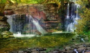 Veil of cascading waterfalls by BrJ-exe