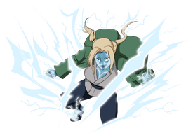 Tsunade Jutsu: Lightning Enhanced Condition by mattwilson83