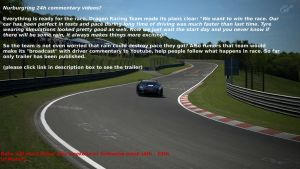 Nurburgring 24h Commentary? by cynderfan35