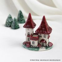 Red strawberry fairy house by vavaleff