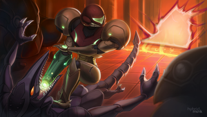 Harmony of Heroes: Metroid by hybridmink