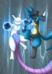 IceCave - Lucario vs. Mewtwo by Aishishi