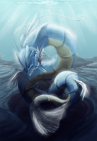 Gyarados by bunnish