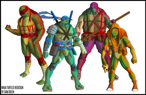 Ninja Turtles by SamGreenArt