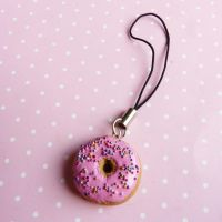 donut with pink frosting by lemon-lovely