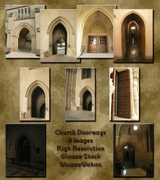 Church doorways by Wicasa-stock