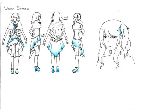 RWBY Winter Schnee Idea by LittleBluebird123