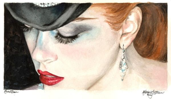 Nicole Kidman 1 watercolor by Ethan-Carl