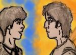 John Lennon and Paul McCartney by StarBird18