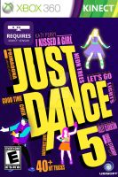 Just Dance 5 Front Cover (Fan-Made) by xander2386